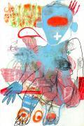 Caroline Demangel, Elle a dit, 2016, technique mixte sur papier, 120 x 80 cm. Crédits photographiques : Patrice Bouvier