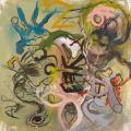 """Christophe Boursault_""""FAR""""_2015_techniques mixtes sur toile_100x100cm_courtesy Galerie Polad-Hardouin"""