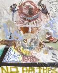 """Christophe Boursault_""""J'ai changé""""_2016_techniques mixtes sur toile_162x130cm_courtesy Galerie Polad-Hardouin"""
