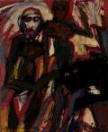 Helmut Rieger, L'Âge d'or, 1991, technique mixte sur bois, 53 x 42 cm