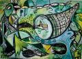"""Timothy Archer """"La Graine et l'Abondance"""" 2015 160 x 210 cm huile sur toile courtesy Galerie Polad-Hardouin"""