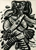 Maryan, Sans titre, 1969, encre sur papier, 88 x 65 cm
