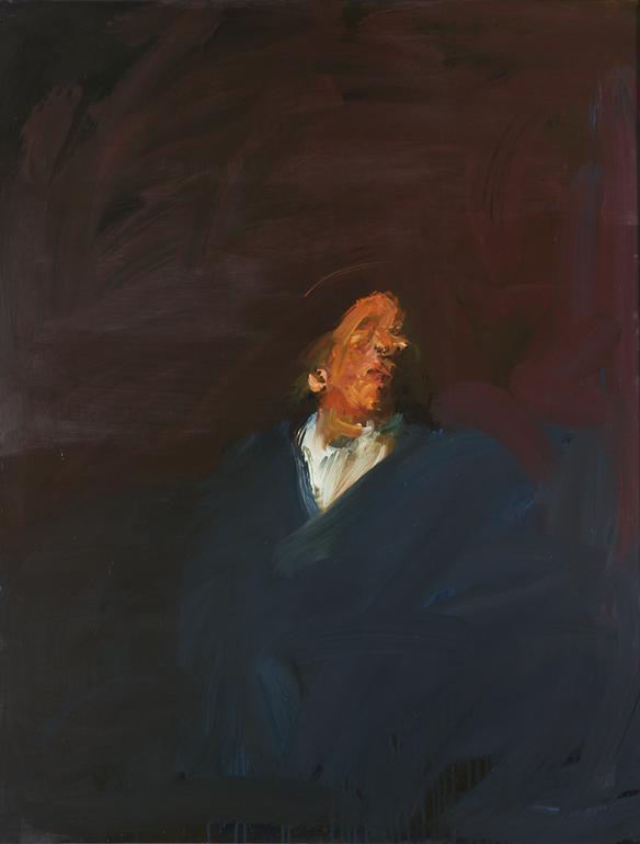 Picture - Autoportrait au grand manteau bleu sur chemise blanche